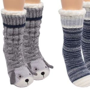 Jane & Bleecker Ladies' Chunky Slipper Sock's